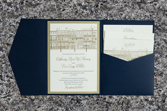 Big Easy Pocket Folder Invitation