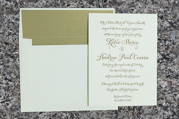 Chalet Invitation with Envelope