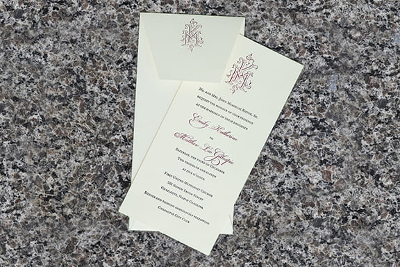 Duogram Invitation with Envelope