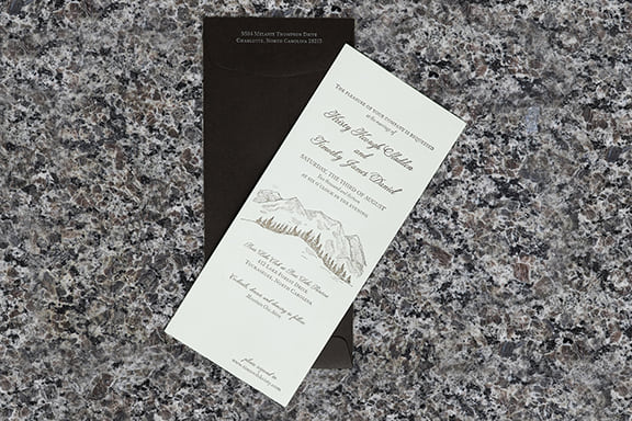 Mountain Retreat Invitation with Envelope