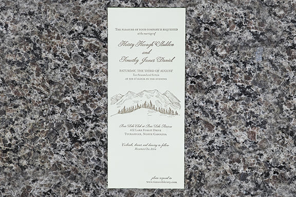 Mountain Retreat Invitation
