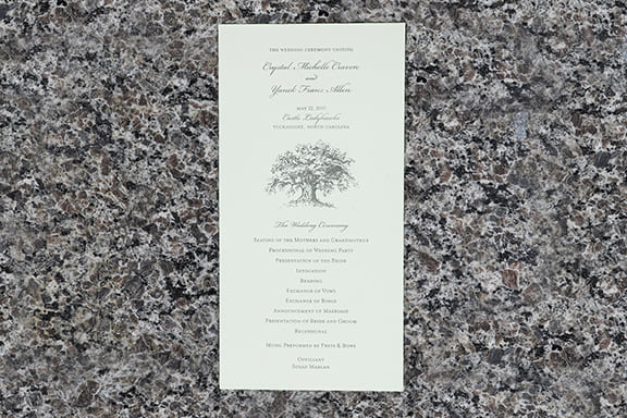 Old Oak Tree Invitation