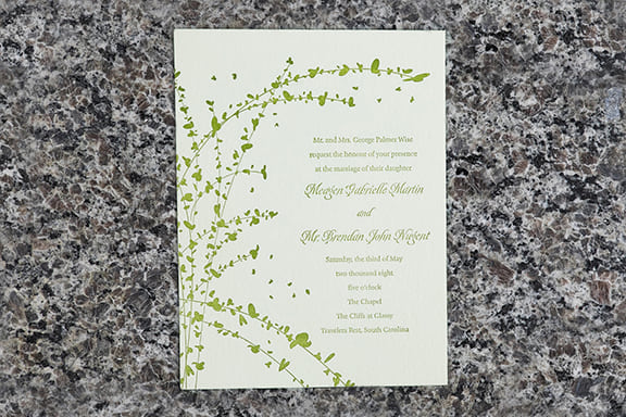 Vines Invitation