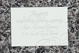 The Mint Reception Card