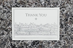 Garden Wall Thank You Card